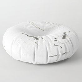 Summer shrimp Floor Pillow