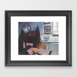 mothman in domestic bliss Framed Art Print