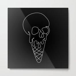 Skull Cone Metal Print