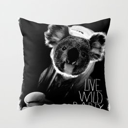 Koala test Throw Pillow
