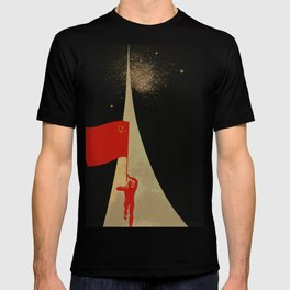 all the way up to the stars - soviet union propaganda T-shirt