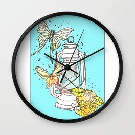 Florida Camping Wall Clock