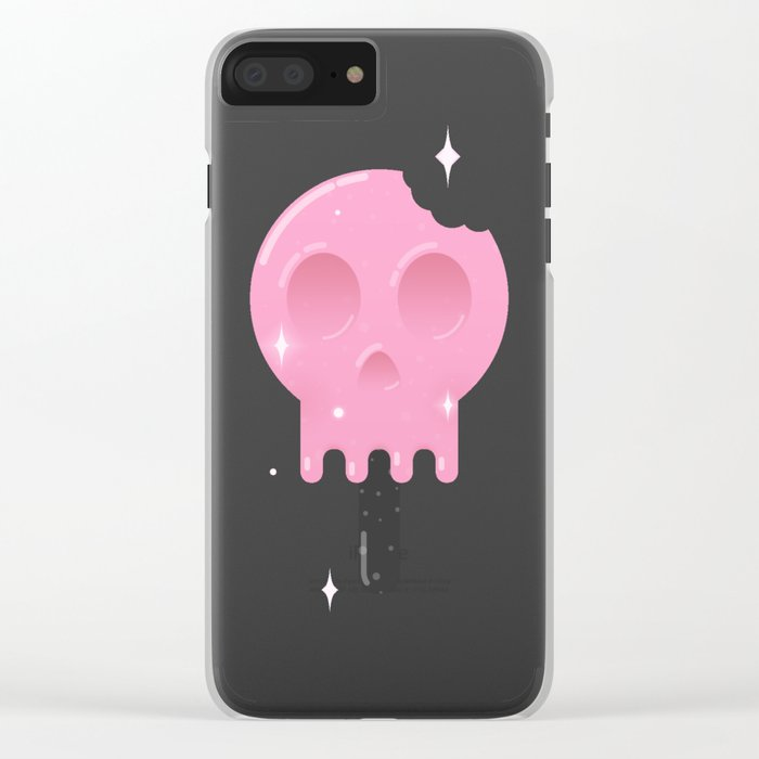 Funny Death Clear iPhone Case
