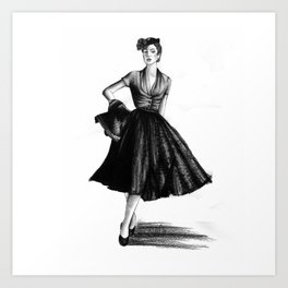 Fashion 1950 Art Print