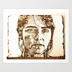 Scratching the Surface (Vhils) Art Print