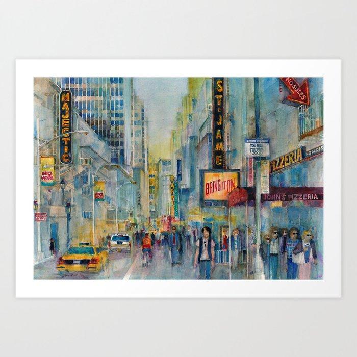 Broadway,  New York - Five O'Clock Revised Art Print