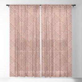 Shades of terracotta Sheer Curtain
