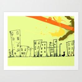 Duck City Art Print