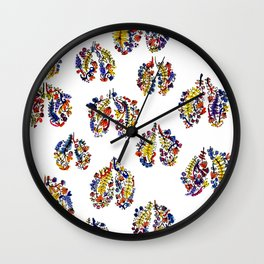 Breathe in Nature's Colors Wall Clock