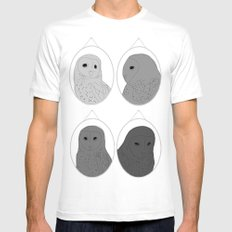 The wall of one conceited owl SMALL White Mens Fitted Tee