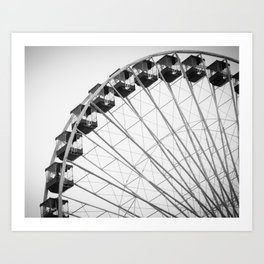 Save Ferris Wheel Art Print