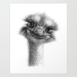 Hello-you ostrich sk130 Art Print