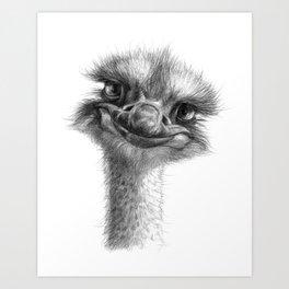 Hello-you ostrich sk130 Art Print