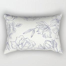 Vintage Roses x Springflowers Rectangular Pillow