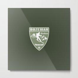 Ski Bozeman Montana Metal Print