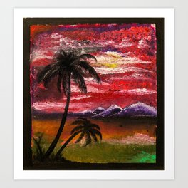 Finger Painting Art Print