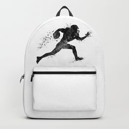 American Football Player Sports Art Football Player Gift Black And White Art Backpack