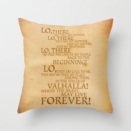 Viking Prayer Throw Pillow
