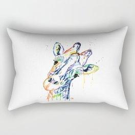 Giraffe - Curious Rectangular Pillow