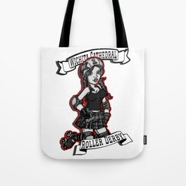 Roller Derby Girl at Wichita Cathedral Tote Bag