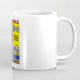 U.S. Marines -- Service On Land And Sea Coffee Mug