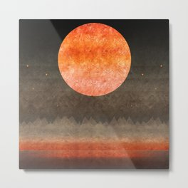"""Sabana night light moon & stars"" Metal Print"