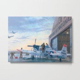 P-51 Mustang Hangar Metal Print