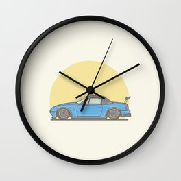 Mazda MX5 Miata vector illustration Wall Clock