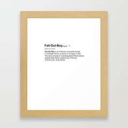 FOB dictionary definition Framed Art Print