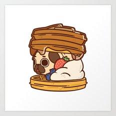 Puglie Waffles Art Print