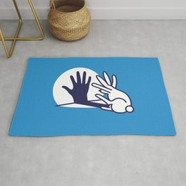 hand shadow rabbit Rug