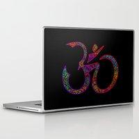 om Laptop & iPad Skins featuring OM by Tali Rachelle