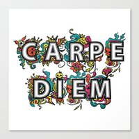 carpe diem Canvas Prints featuring Carpe Diem by Digi Treats 2