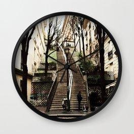Paris Steps Wall Clock