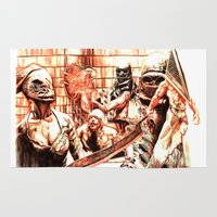 silent hill Area & Throw Rugs featuring Silent Hill by Joseph Silver