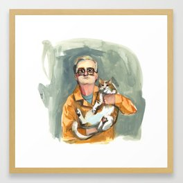 Bubbles and Jail Kitty Framed Art Print