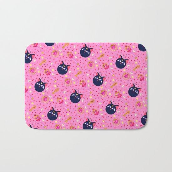 Chibi Moon Pattern / Sailor Moon Bath Mat