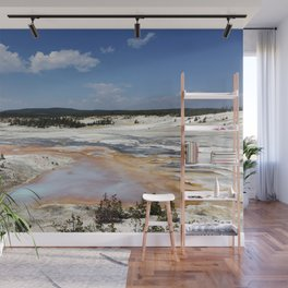 Mudpots and hot springs color the terrain in northwestern Wyomings Yellowstone National Park Wall Mural