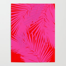 Palms Pink & Red Poster
