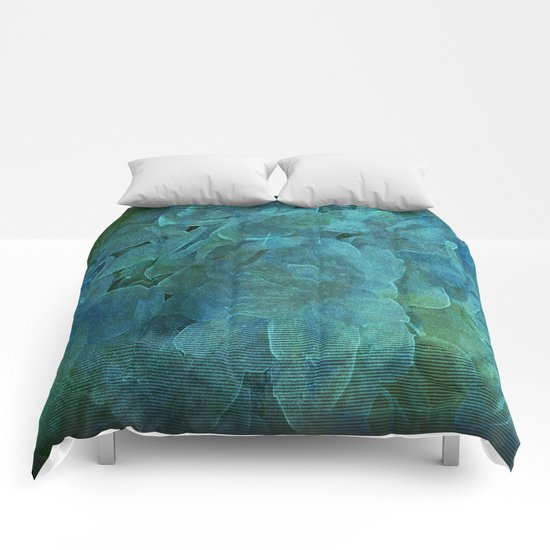 Evening Floral Garden Abstract Comforters