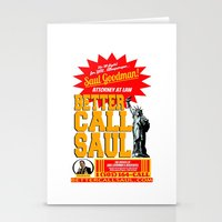better call saul Stationery Cards featuring BETTER CALL SAUL  |  BREAKING BAD by Silvio Ledbetter