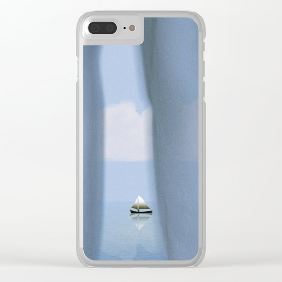 Quietly Goes the Day Clear iPhone Case
