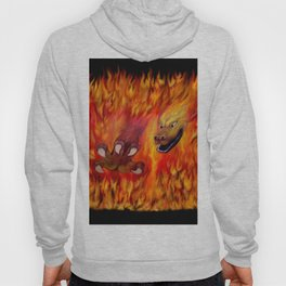 Red Dragon Claw in flames Hoody
