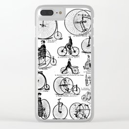 Velocipedes Clear iPhone Case