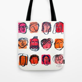 Red faces Tote Bag