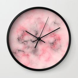 Pink and gray marble Wall Clock