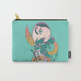 Lock and Key Surreal Bird Art Carry-All Pouch
