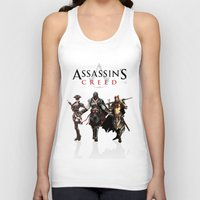 assassins creed Tank Tops featuring Assassins Creed Attack by bivisual