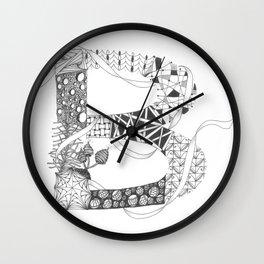 """Zenletter """"B"""" Wall Clock"""