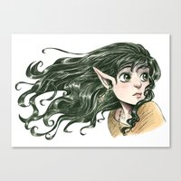 fairy Canvas Prints featuring Fairy by Courtney Godbey